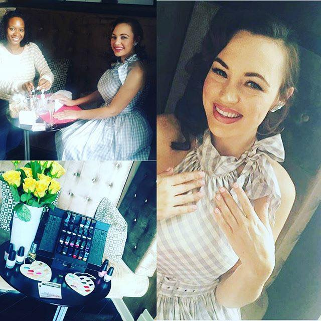 Actress Emily Elicia Low enjoys a manicure from KarmaCoats.