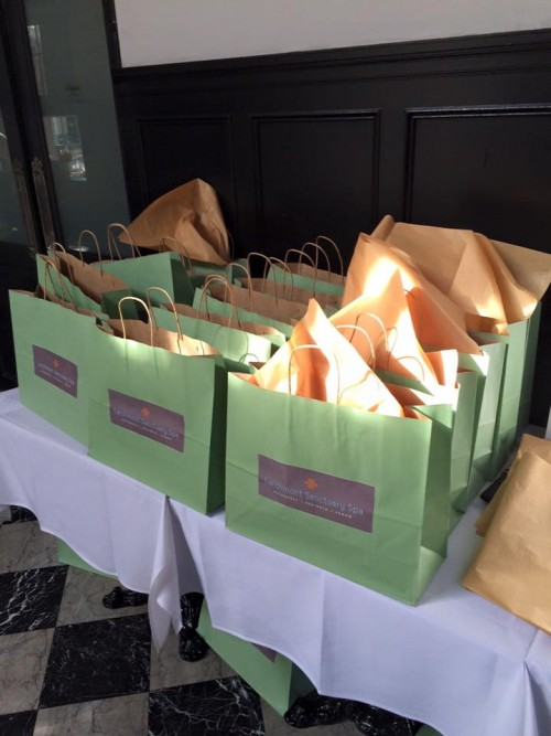 Guests went gaga over the lifestyle and beauty gift bags.