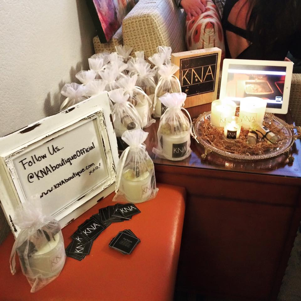 Hand-poured candles by KNA were very popular at #IndieLounge.