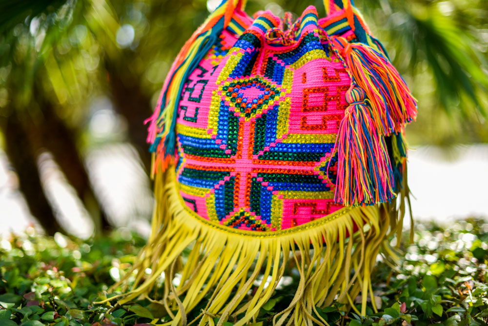 Wayuu Luxury Mochila Bags are handwoven for over 120 hours in crochet style.