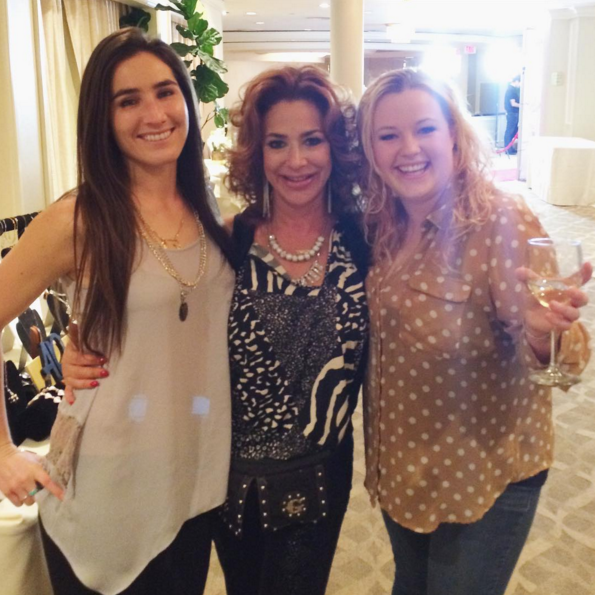 Home Business Magazine (left) catches up with Back To The Future star Claudia Wells (center) and friend Stephanie Kelley (right).