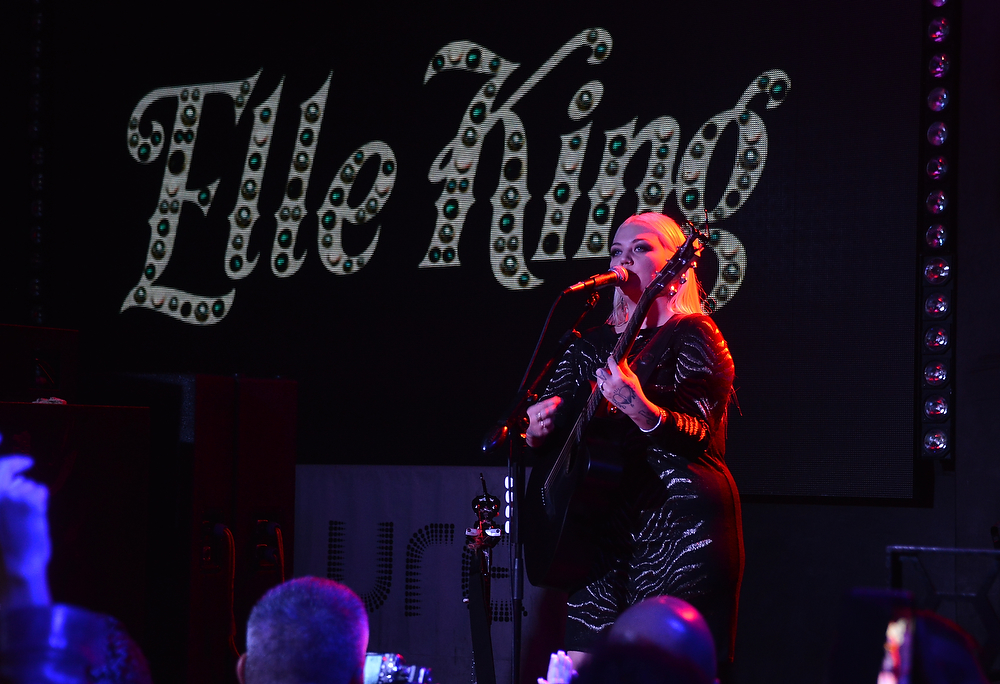 Elle King performs her Grammy-nominated song, Ex's and Oh's. Photo Credit: Startracks Photo.