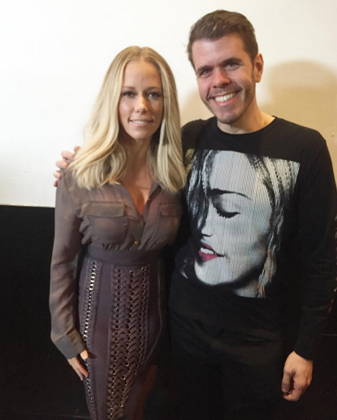 Kendra Wilkinson and Perez HIlton attend the 2016 OK! Magazine Pre-Oscar Party.