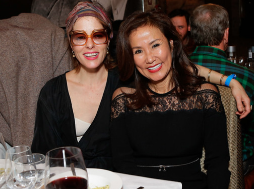 Parker Posey and Mimi Kim share a laugh during ChefDance 2017, sponsored by GiftedTaste, Park City, Utah.