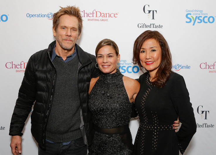 Kevin Bacon, Chef Cat Cora and CEO Mimi Kim come together at ChefDance benefitting Operation Smile at Sundance 2017.