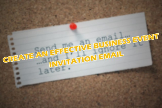 Business Event Invitation Email