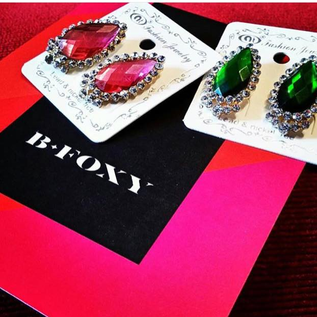 B-Foxy provided sparkling statement earrings for the gift bags.