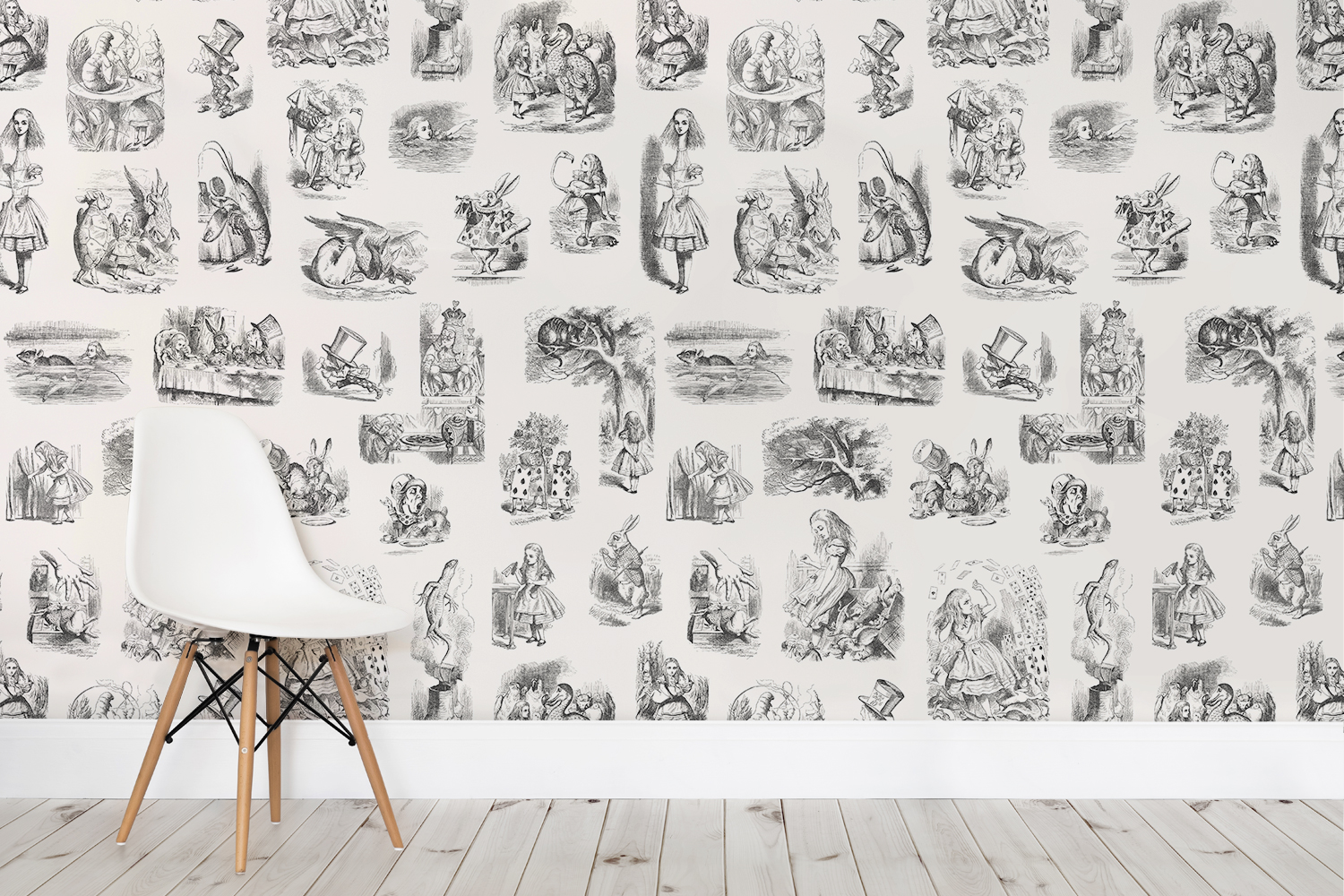 Down The Rabbit Hole With Murals Wallpaper Home Business Magazine
