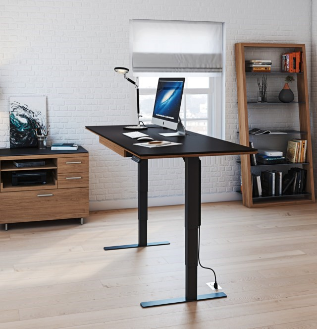 Business owners can burn an extra 120 calories a day by standing for 4 hours with the Sequel Lift Desk.
