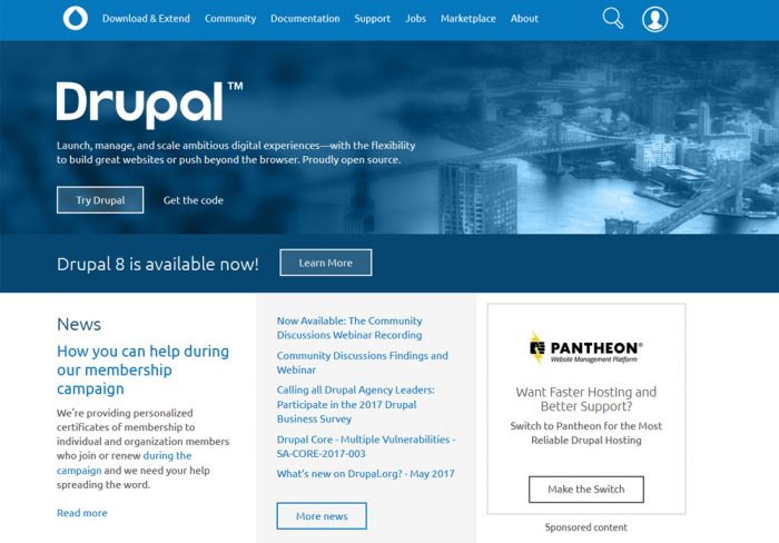 Drupal, though originally a complicated open source content management  system has grown to become one of the most well-known website builders that  require ...