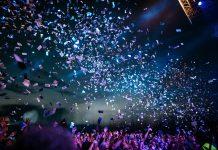 Confetti at event