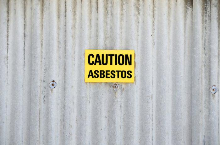 Warning for asbestos
