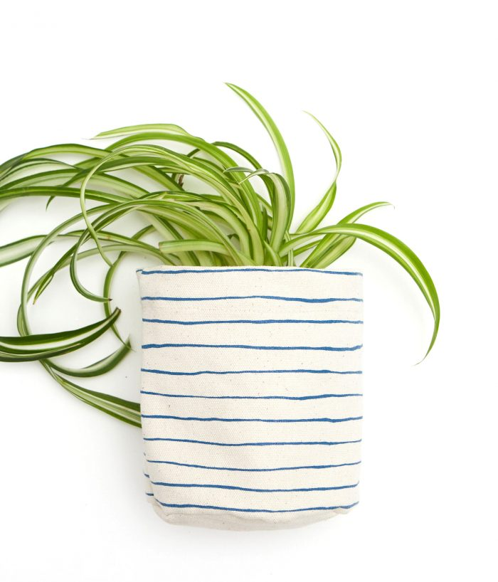 Molly Hatch Striped Fabric Planter