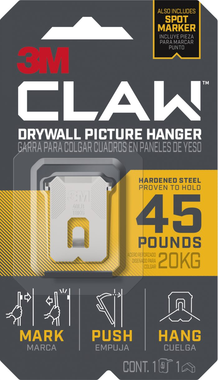 3M™ CLAW Drywall Picture Hanger