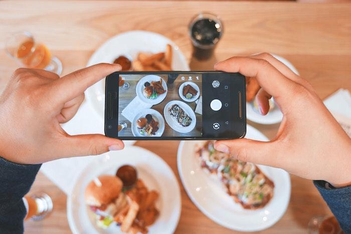 Smartphone Taking Photo