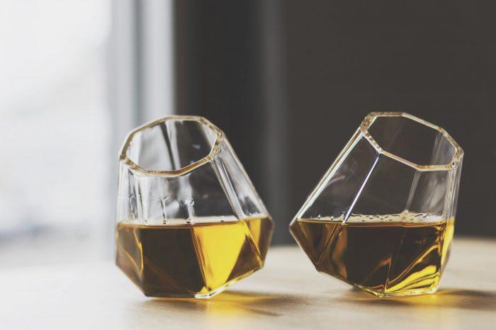 Diamond Whiskey Glass