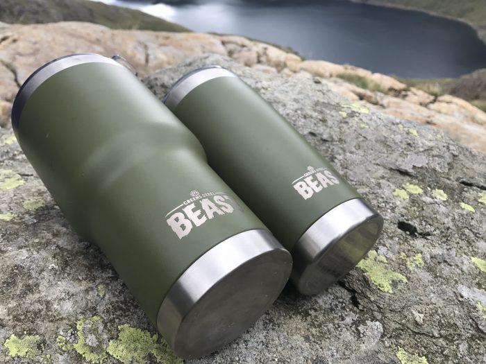Green steel beast cups
