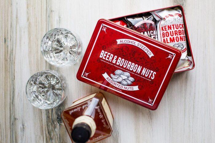 Sugar Plum Beer & Bourbon Nuts Gift Tin